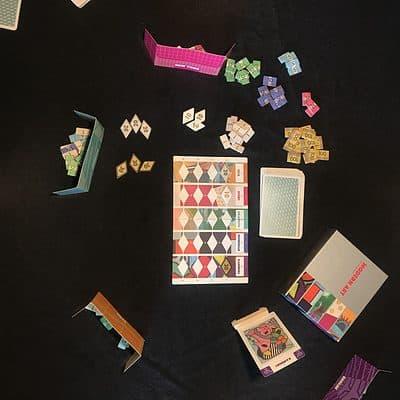 modern art reiner knizia team arlin strategiespel kaartspel veiling&bieden dicetree games