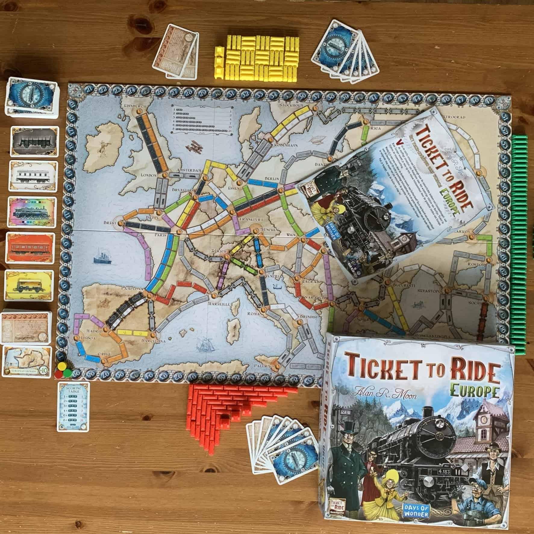 Ticket To Ride Europe Asmodee Days of Wonder