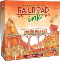 Foto Dobbelspel Railroad Ink Vuurrode Versie