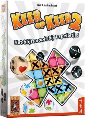 Keer op Keer - 2 Dobbelspel Bordspel