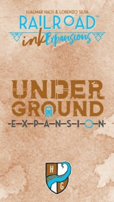 Railroad Ink: Underground Expansion Pack spel doos box Spellenbunker.nl
