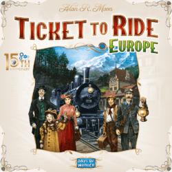 Ticket to Ride: Europe – 15th Anniversary spel doos box Spellenbunker.nl