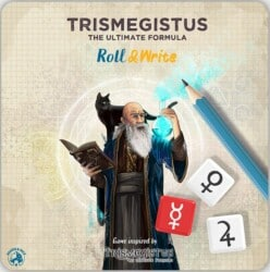 Trismegistus: Roll & Write spel doos box Spellenbunker.nl